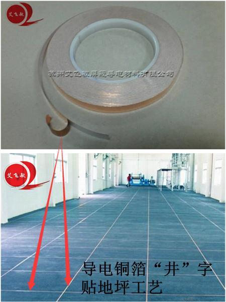 防静电地板铜带,PVC静电地板铜接地铜带规格[用量]-艾飞敏铜箔